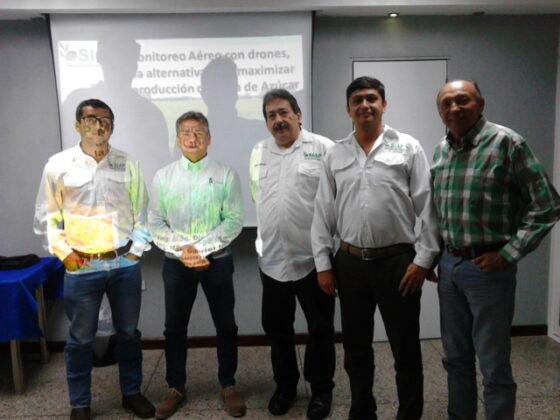 Ing. Rafael Rodriguez gerente general de operaciones de SocaPortuguesa, Diego y Gabriel Machado de SIAP y Jose Luis Cuello gerente de Probioagro
